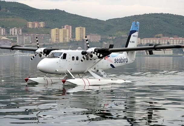 Gazeteciler deneme uçuşuna katıldı