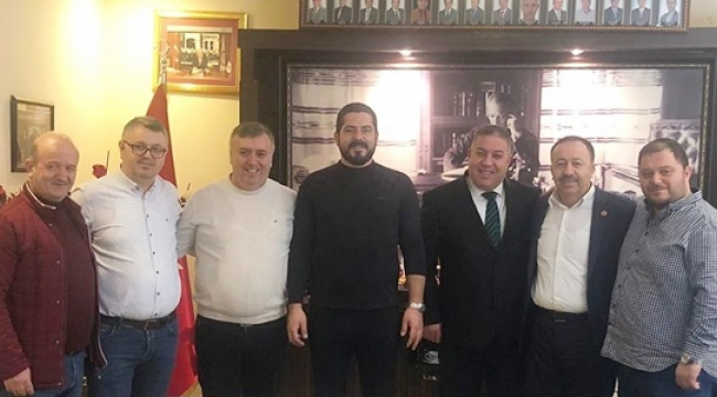 Çatalcaspor Başkanı Gökçe'den SİBESO Başkanı Koçer'e Ziyaret