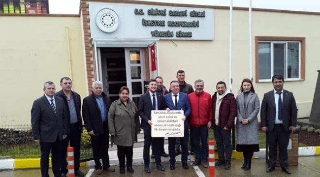CHP'den Yeni Sanayi Sitesi İşletme Kooperatifine Ziyaret