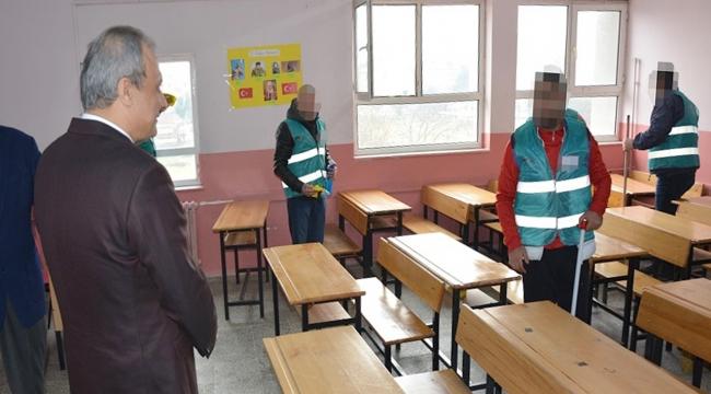 Silivri'de Kamu Cezası Alanlar Okulları Pırıl Pırıl Yaptı
