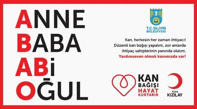 Silivri Belediyesi'nden Kan Bağışı Çağrısı