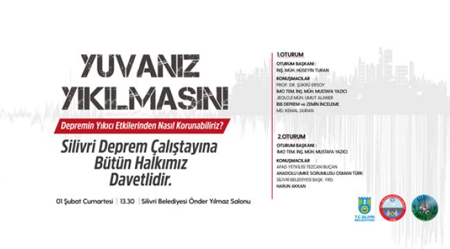 Silivri'de 1 Şubat'ta Deprem Çalıştayı Düzenlenecek
