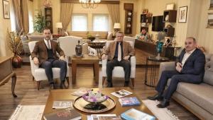 Başkan Yılmaz'a Belen ve Yavuz'dan ziyaret