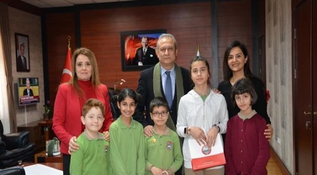 Selimpaşa Yavuz Selim İlkokulu Öğrencilerinden Kaymakam Partal' a Ziyaret