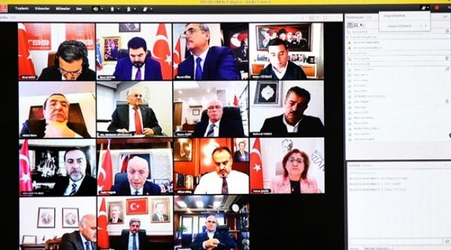 Başkan Yılmaz TBB Toplantısına Video Konferans İle Katıldı