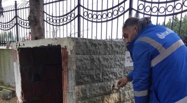 Fener Mezarlığındaki Çeşmelerin Muslukları Onarıldı