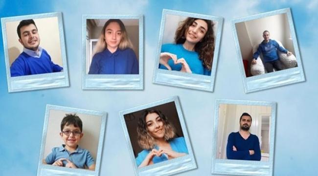 CHP Silivri Gençliği Otizme Mavi Işık Yaktı