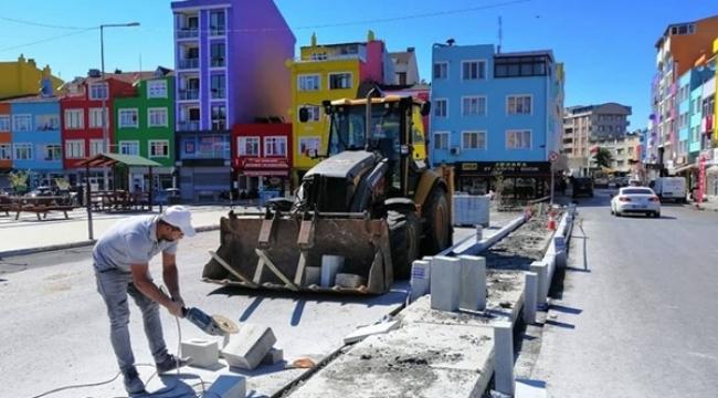 Burhan Soyaslan Caddesi Modernize Ediliyor