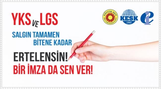 """Eğitim-Sen'den İmza Kampanyası: """"YKS ve LGS Salgın Tamamen Bitene Dek Ertelenmelidir"""""""
