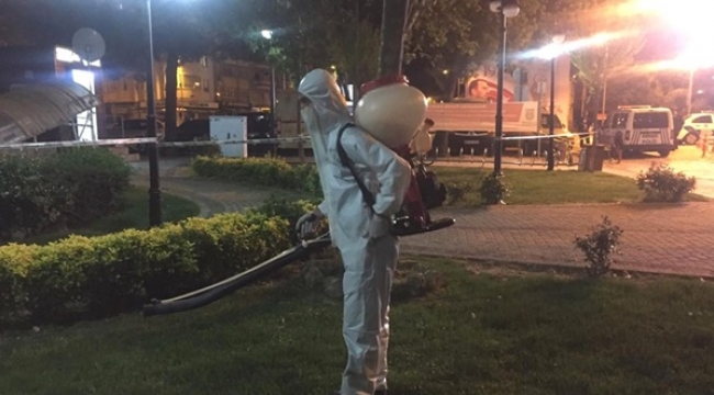 Silivri'de Gece Boyunca Haşere İle Mücadele Çalışması Yapıldı