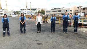 Şehir Hatlarında Bir İlk: Beş Kadın Gemici İşbaşı Yaptı
