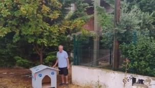 Balaban Mahallesi'ne sokak hayvanları için kulübe konuldu