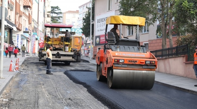 Hacı Pervane tamam, Gazi Caddesi de asfaltlanıyor
