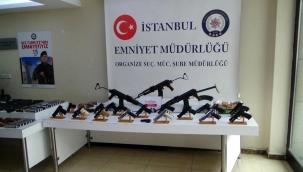 İstanbul'da yasa dışı silah ticareti operasyonu: 16 şüpheli yakalandı