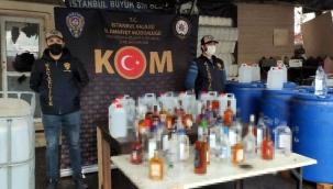 İstanbul merkezli operasyonda 88 ton sahte içki ele geçirildi