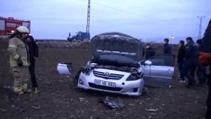 Silivri'de takla atan otomobilin sürücüsü yaralandı