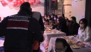 Silivri'de yılbaşı kutlaması yapılan villaya jandarma baskını