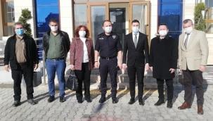 CHP Silivri heyetinden Komiser Eşref Akıllı'ya ziyaret
