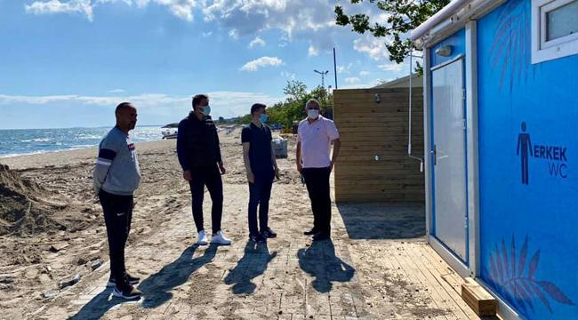 İBB'den Semizkumlarda Plaj Düzenleme Çalışması