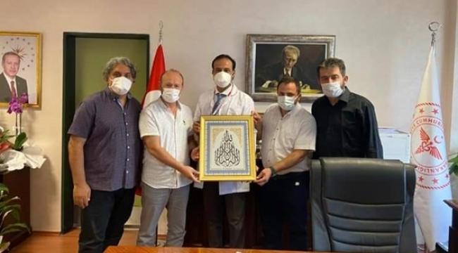 Silivri Devlet Hastanesi'nin yeni başhekimine ziyaretçi akını