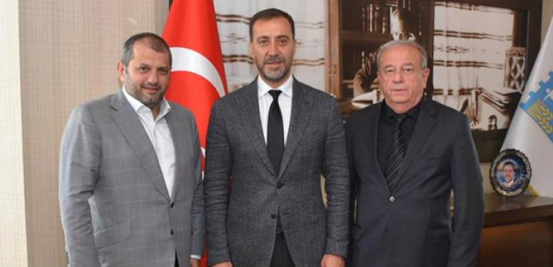 Saral ve Ölçer, Başkan Yılmaz'ı ziyaret etti