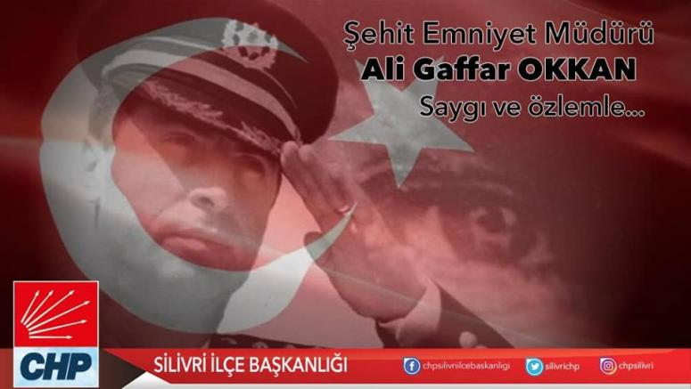 Gaffar Okkan ve 5 Polis Memuru unutulmadı
