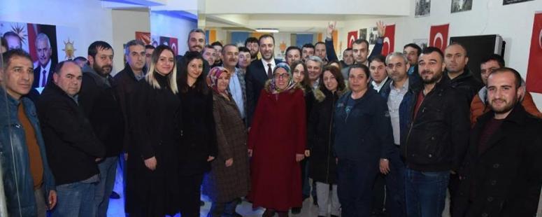 Yılmaz'dan Alibey Seçim Bürosu ziyareti