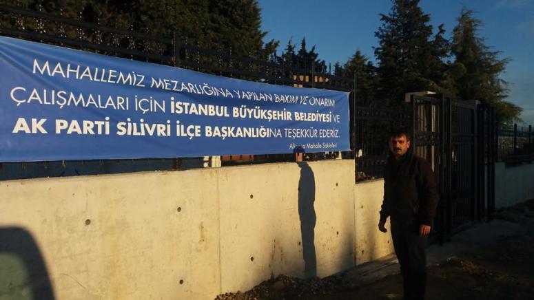 Mezarlık duvarları yenileniyor I Vatandaş'tan AK Parti ve İBB'ye teşekkür!