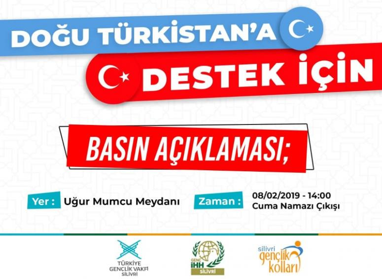 Doğu Türkistan'a destek açıklaması yapılacak
