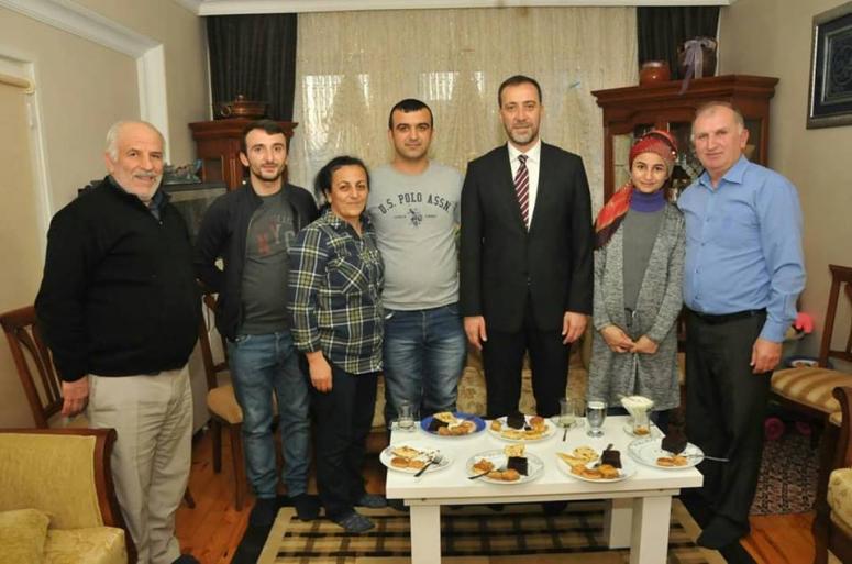 Güler ailesi Başkan Adayını ağırladı