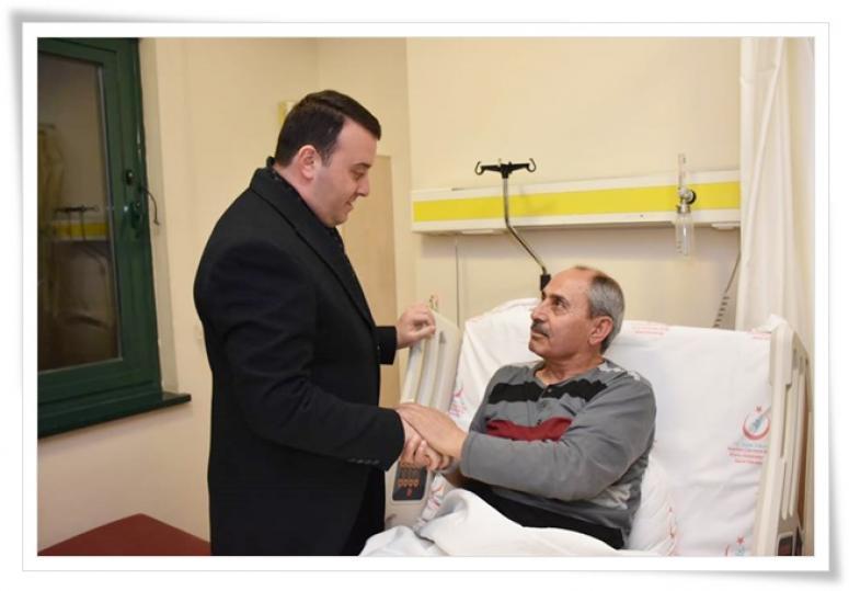 Mehmet Çaylak'a geçmiş olsun ziyareti