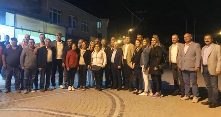 CHP'liler Büyükçavuşlu'da nabız tuttu