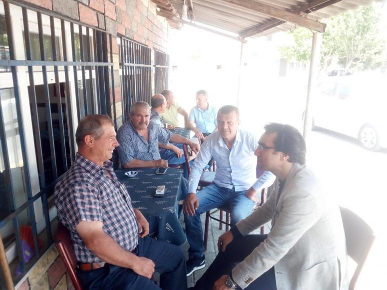 İlçe tarım müdürü çiftçilerle bayramlaştı