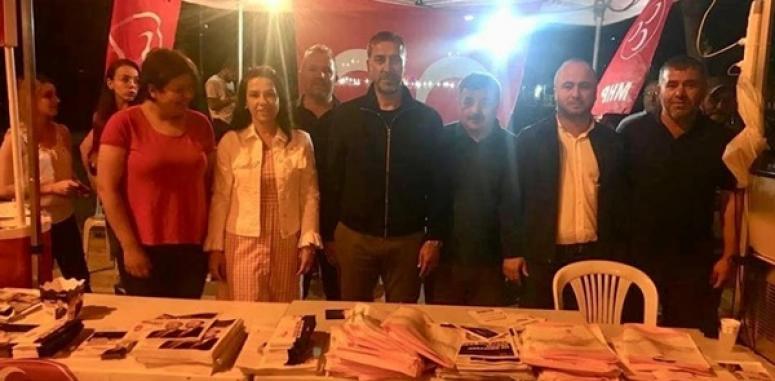 Yılmaz'dan MHP ve AK Parti seçim standına ziyaret