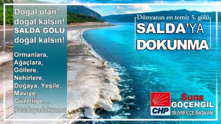 CHP'den 'Salda'ya Dokunma' çağrısı!