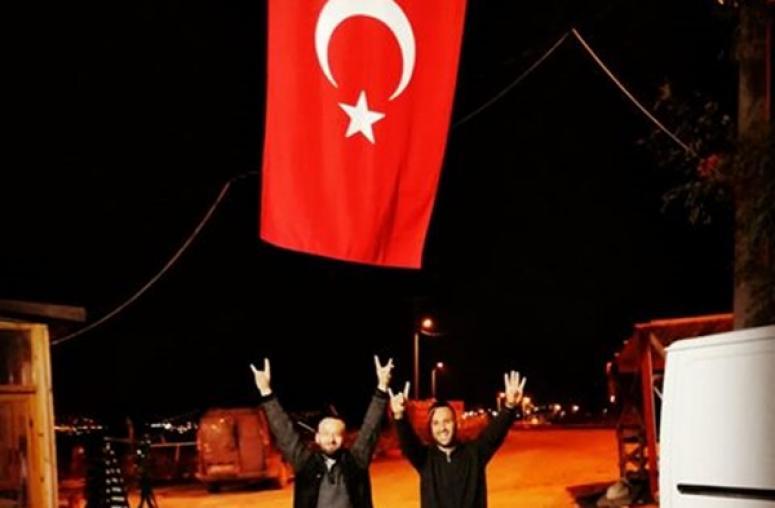 Magunacı Kardeşlerden Barış Pınarı Harekatı'na 'Ay Yıldızlı' Destek