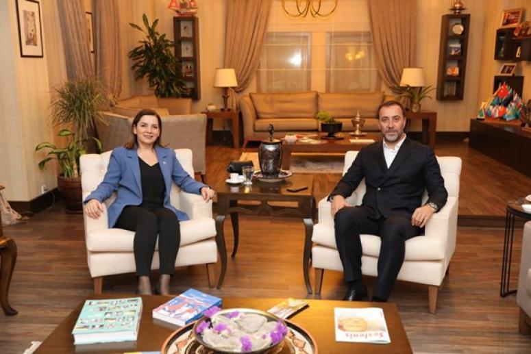 Başkan Yılmaz, Arzu Erdem'i Konuk Etti