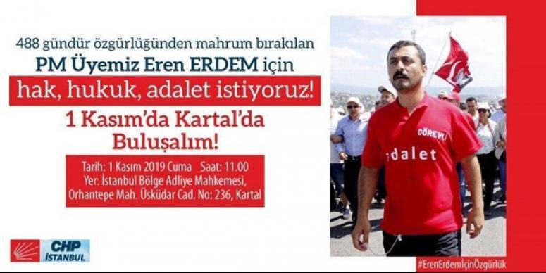 CHP Silivri'den Eren Erdem çağrısı