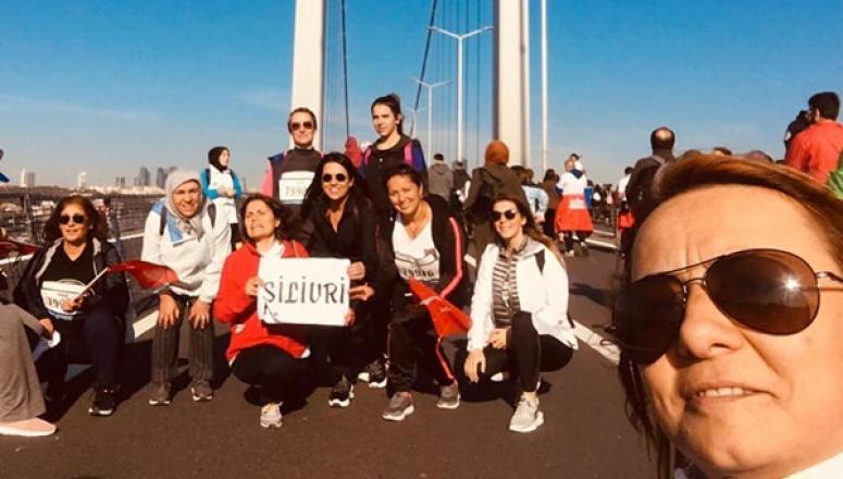 MHP'li kadınlar, Vodafone 41. İstanbul Maratonu'na katıldı