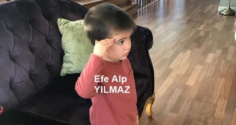 Minik Efe Alp'in, Ata'ya Saygısı