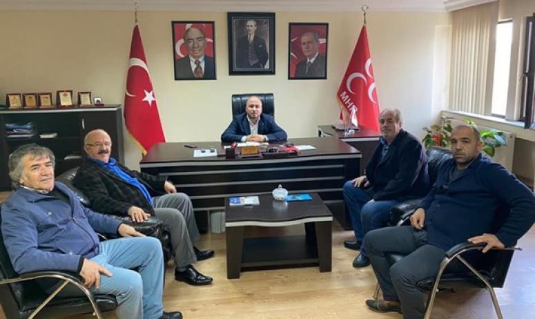 Tonta ve yönetiminden, MHP ziyareti