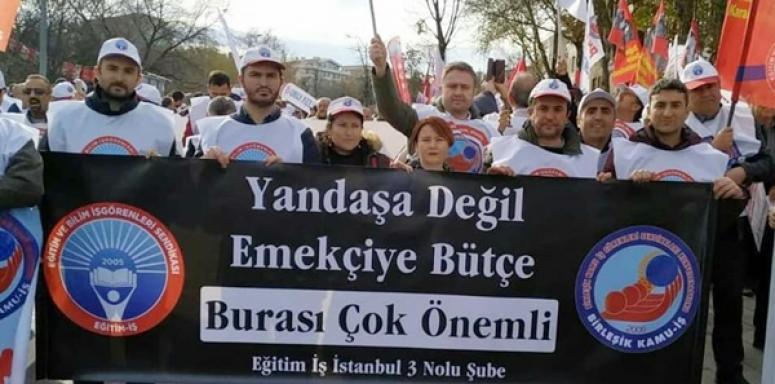 Silivri Eğitim İş, Hükümetin 2020 Bütçesini Tandoğan Meydanı'nda Protesto Etti