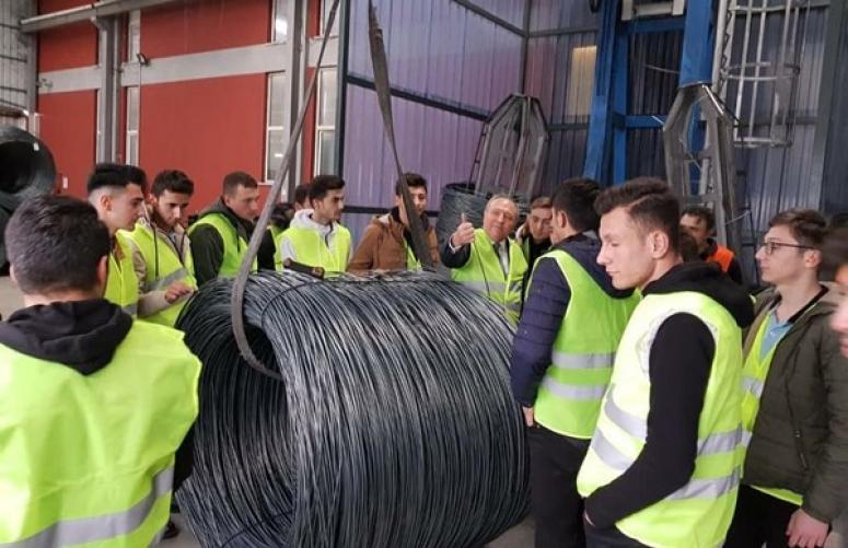 Metal Bölümü Öğrencilerinden Çağ Kabara'ya Eğitim Gezisi