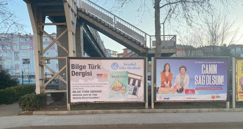 Bilge Türk Dergisi, Silivri'deki Billboardlarda