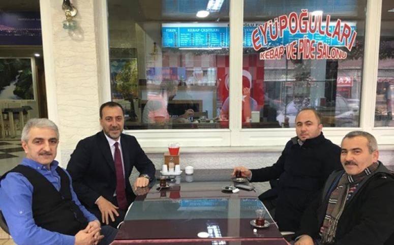 Başkan Yılmaz'dan Sali Usta'ya ziyaret