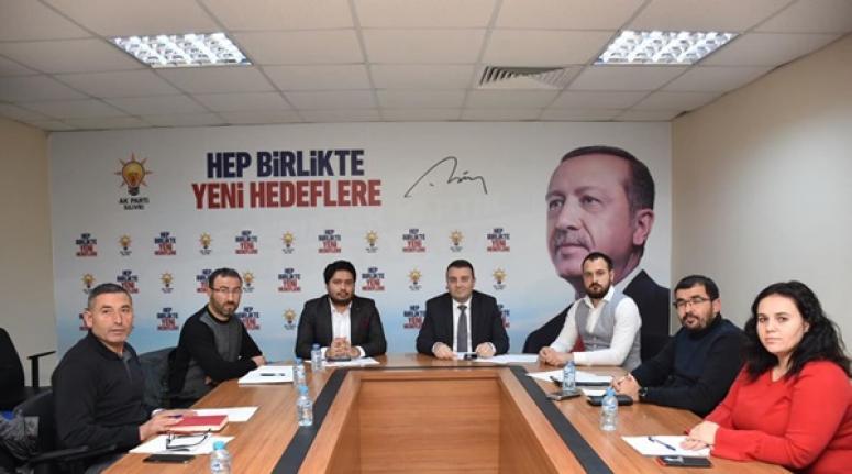 AK Parti Silivri, İl Sorumlusu Aktaş'ın Katılımıyla Toplandı