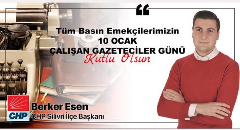 Esen'den 10 Ocak Çalışan Gazeteciler Günü Mesajı