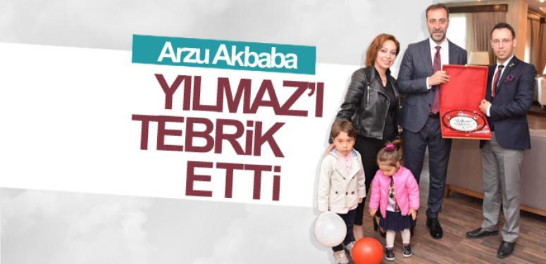 Arzu Akbaba, Yılmaz'ı tebrik etti