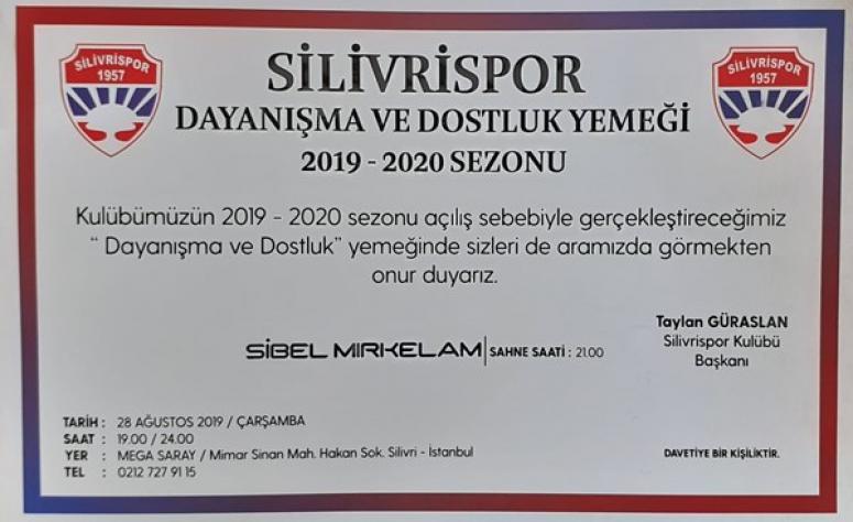 Silivrispor, 'Dayanışma ve Dostluk' yemeği düzenliyor