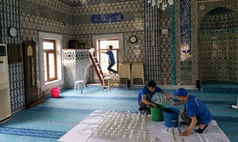Ramazan öncesi cami temizlikleri başladı